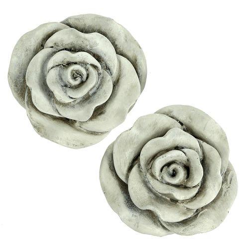 deko rose grau 10cm 2st kaufen in schweiz. Black Bedroom Furniture Sets. Home Design Ideas