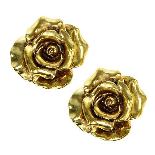 deko rosen gold 8cm 6st kaufen in schweiz. Black Bedroom Furniture Sets. Home Design Ideas
