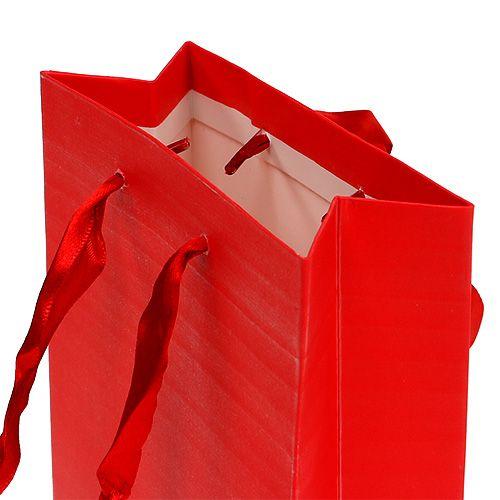 Deko Tüte für Geschenk Rot 12cm x19cm 1St