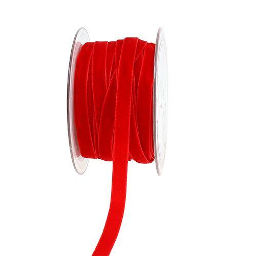Dekobänder Velvet Rot 10mm 20m