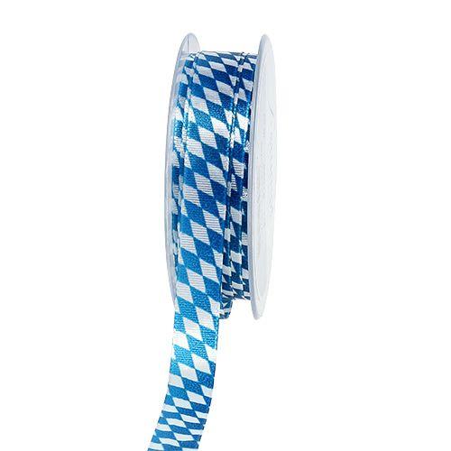 Dekoband Blau-Weiß 15mm 20m