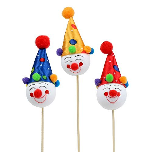 Dekostecker Clown 8 5cm L28 5cm Sort 6st Kaufen In Schweiz