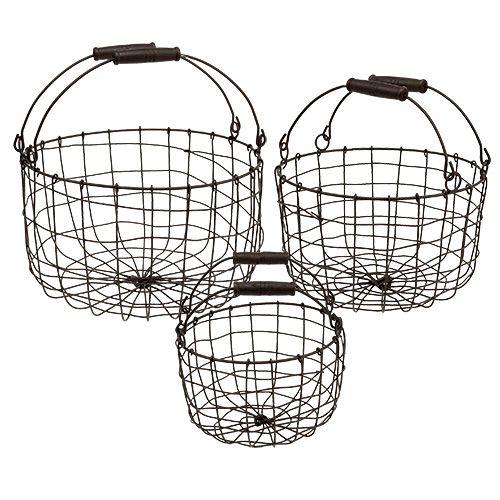 drahtkorb rund braun 20 25 30cm 3er set kaufen in schweiz. Black Bedroom Furniture Sets. Home Design Ideas