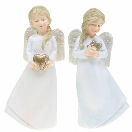 Weihnachtsdekoration Engel Schutzengel 15cm 2St