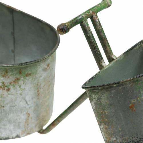 Blumentopf Fahrrad Zink Grau, Grün 40×14×21cm