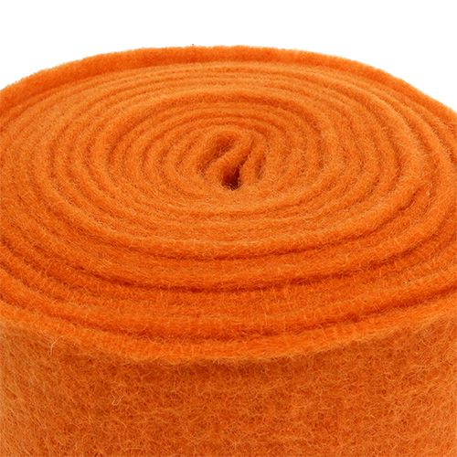 Filzband 15cm x 5m Orange