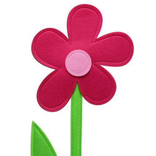 Filzblume Pink 120cm