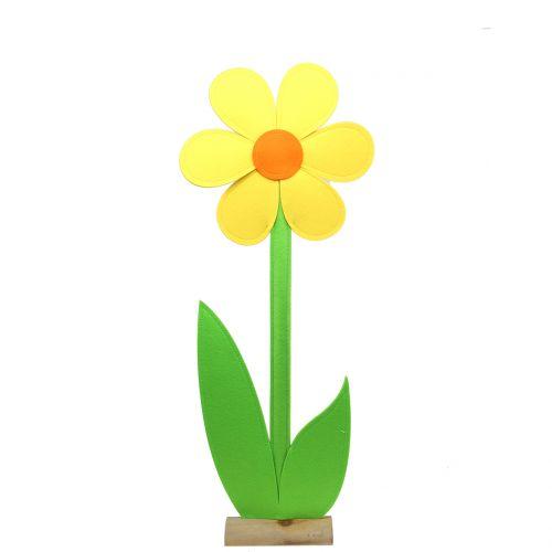 Filzblume Gelb 87cm