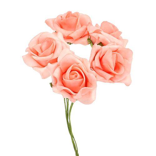 Foam Rose Ø3,5-4,5cm Lachs 36St