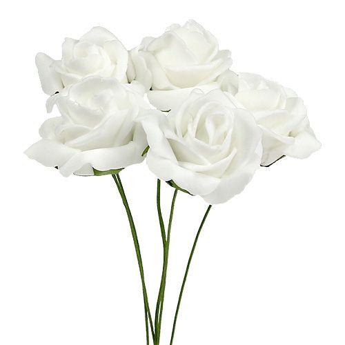 Foam Rose Ø4,5cm weiß 36St