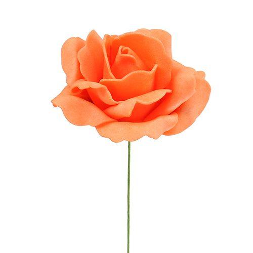 Foam-Rose Ø 6cm Orange 27St