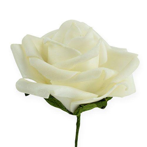 Foam-Rose Ø6cm Creme 27St
