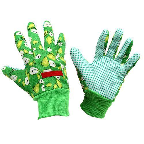 Kixx Frauenhandschuhe Gr.8 Grün, Rot mit Motiv