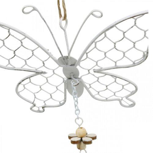 Frühlingsdeko, Metallschmetterlinge, Ostern, Dekoanhänger Schmetterling 2St
