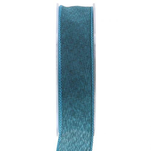 Geschenkband Blau matt 25mm 20m