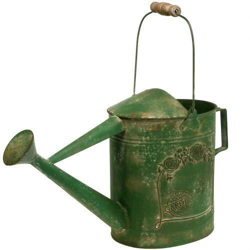 Gießkanne Gießkanne in Shabby-Chic Wasserkanne antikgrün Vintage Look
