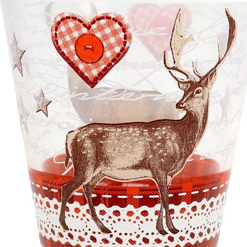 glas mit hirschmotiv klein 8 5cm h9cm 1st kaufen in schweiz. Black Bedroom Furniture Sets. Home Design Ideas