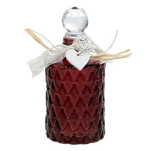 Glasflasche Mit Stöpsel : glasflasche mit st psel 6cm h14cm bordeaux 1st kaufen in ~ Watch28wear.com Haus und Dekorationen