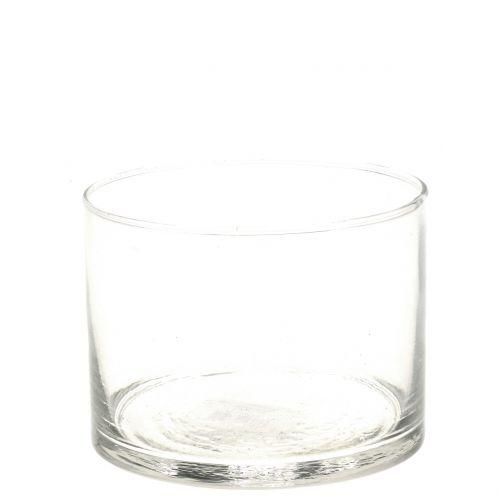 Glasvase Glaszylinder Ø9cm H7cm