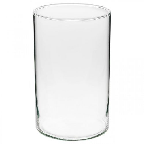Dekoglas, Kerzenglas, Tischdeko, Blumenvase Ø13cm H21cm