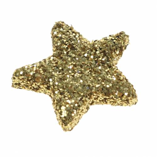 Sterne Glitzer Gold 1,5cm 144St