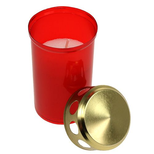 Grablicht zylindrisch Rot Ø6cm H10cm 12St