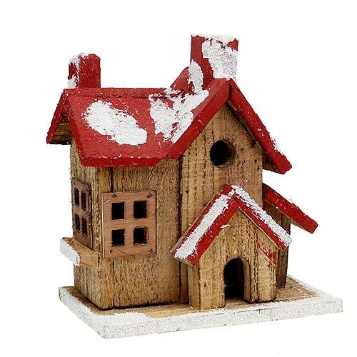 haus mit beleuchtung h20cm b20cm rot braun kaufen in schweiz. Black Bedroom Furniture Sets. Home Design Ideas