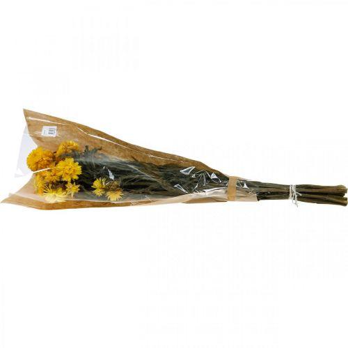 Strohblume Gelb getrocknet Trockenblumen Deko Bund 75g
