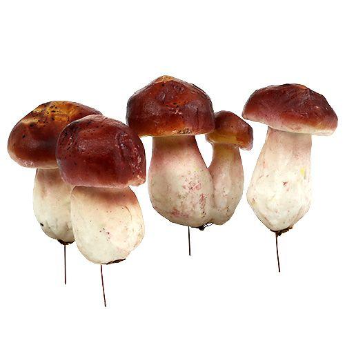 herbstdekoration deko pilze am draht 6st kaufen in schweiz