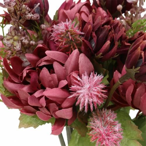 Chrysanthemenstrauß Mix Lila 35cm