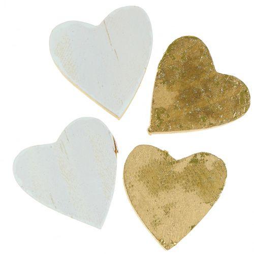 Holz-Herz im Beutel 2cm - 4cm 24St