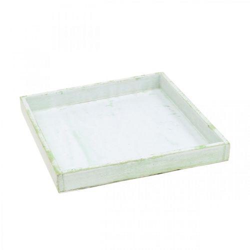 Holz-Tablett, Frühlingsdeko, Tablett zum Bepflanzen 24,5×24,5cm