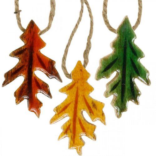 Deko Blätter Holz zum Hängen Bunte Herbstdeko 6,5×4cm 12St