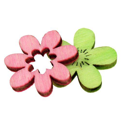 Holzblumen Streu Deko 2cm Pastell Sort 144st Kaufen In