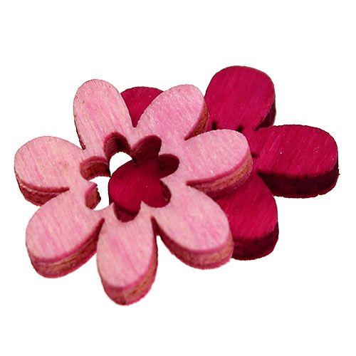 Holzblumen streu deko 2cm pink sort 144st kaufen in schweiz for Pink deko