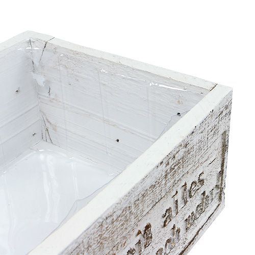 holzkiste mit spruch wei 38cm x 21cm h12cm kaufen in schweiz. Black Bedroom Furniture Sets. Home Design Ideas