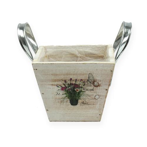 Holzkübel mit Griffen 12cm x 12cm H9,5cm kaufen in Schweiz