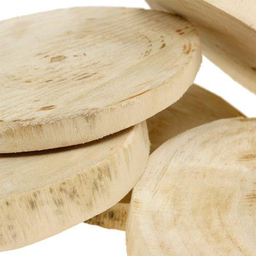 Holzscheiben Natur Ø11cm – 13cm 5St