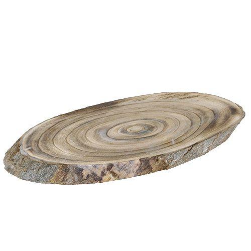 Holzscheibe oval 30cm - 40cm gebrannt