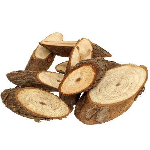 Holzscheiben oval Natur 500g