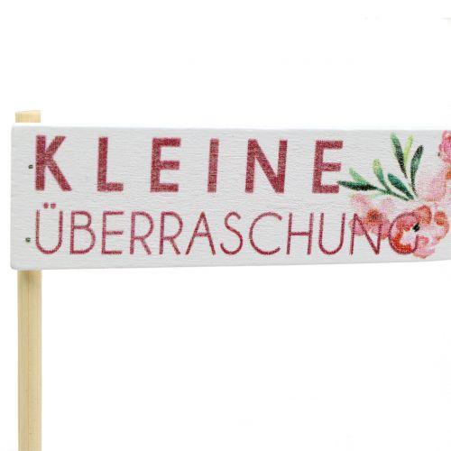 Holzstecker Geschenkstecker mit Spruch 30cm 12St