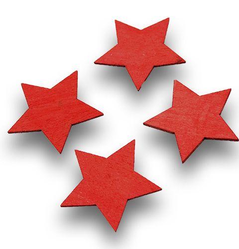 Holzsterne 6cm Rot 24St