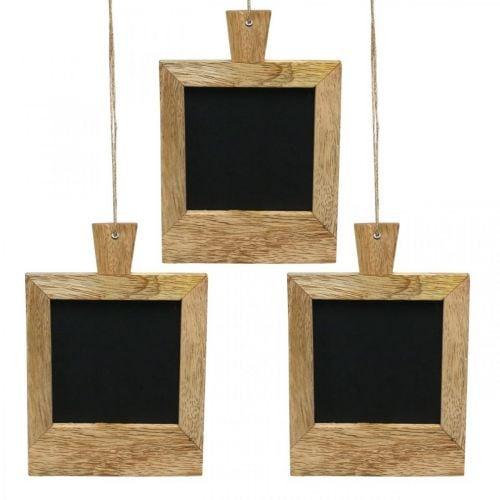 Mini Deko Tafel zum Aufhängen Natur 9×13cm 3St