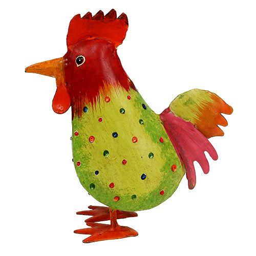 Huhn bunt aus Metall 18cm kaufen in Schweiz