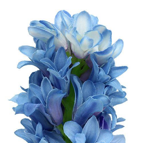 Hyazinthe künstlich Blau, Weiß 31cm 3St