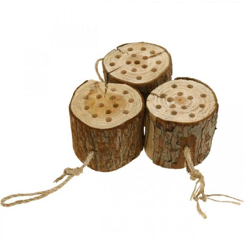 Insektenhotel Holz H65cm Nisthilfe zum Aufhängen