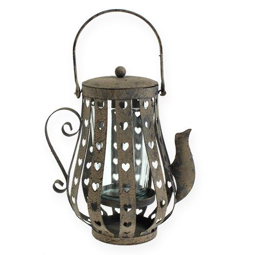 windlicht kanne mit glas rostig 18cm kaufen in schweiz. Black Bedroom Furniture Sets. Home Design Ideas