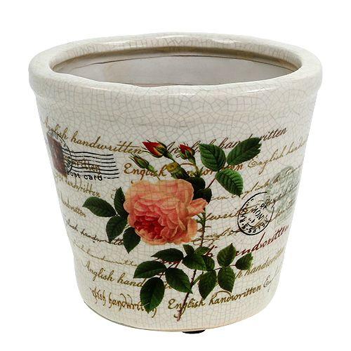 keramiktopf mit rosen 12cm h10 5cm 4st kaufen in schweiz. Black Bedroom Furniture Sets. Home Design Ideas