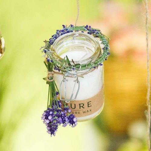 Kerze im Glas Deko mit Deckel Pure Nature Wachskerze Bienenwachs Olivenöl