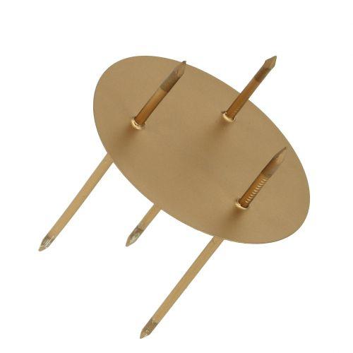 Kerzenhalter Ø5cm Gold matt 4St